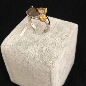 Sterling Multi-Color Quartz Ring